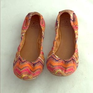 Lucky multi-colored flats (size 6.5)